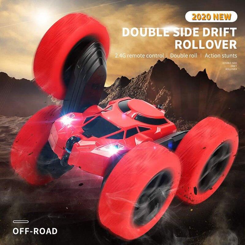 RC Car 2.4Ghz 4CH 1:16 Stunt Drift Deformation Car Rock Crawler Radio Control Car 360 Degree Flip RC Vehicle Toys with LED Light enlarge