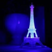 Tour Eiffel romantique LED Veilleuse Lampe de Table de Bureau Maison Chambre Decorer Enfants Cadeau Chambre Chevet LUMIERE LED Lampe