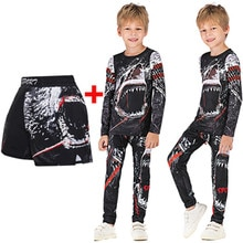 Rashguard MMA 3D compresión niños boxeo BJJ Jersey + Pantalones Jujitsu mma ropa spodenki niño gimnasio camiseta + Pantalones trajes deportivos