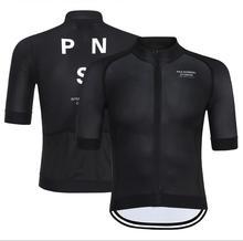 Pro Team PNS 2019 été à manches courtes cyclisme maillot pour hommes séchage rapide vélo vtt vélo hauts vêtements usure Silicone antidérapant
