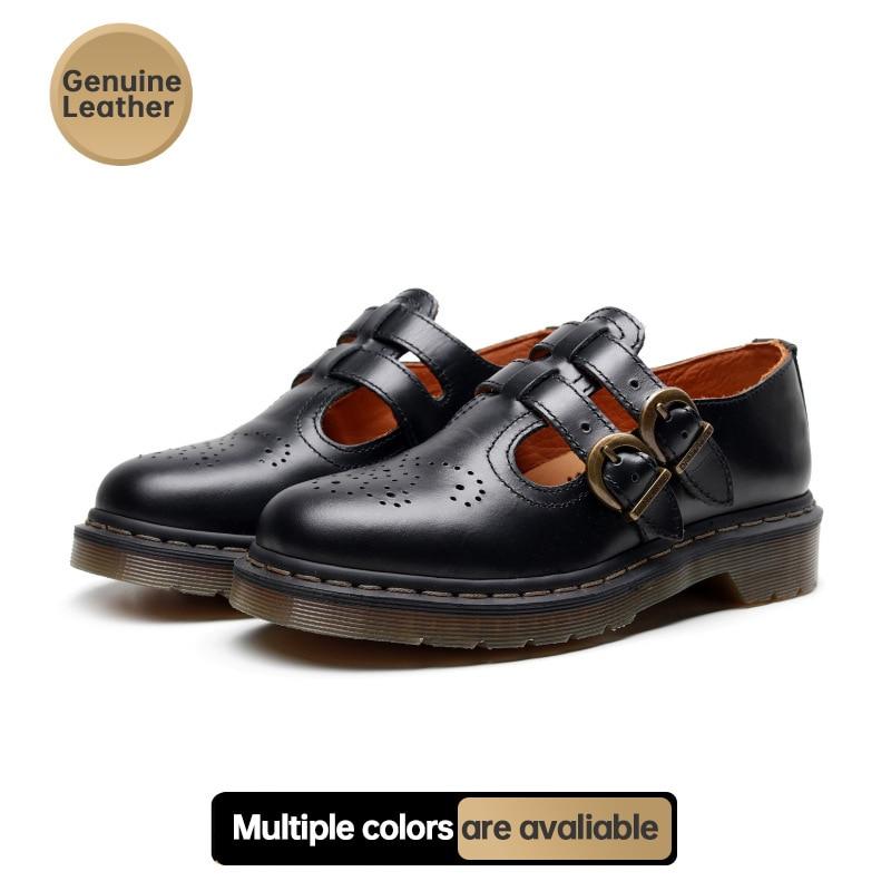 حذاء نسائي بنعل سميك ، حذاء نسائي جلدي ريترو لربيع وصيف 2021 ، حذاء ماري جينس بكعب عالٍ