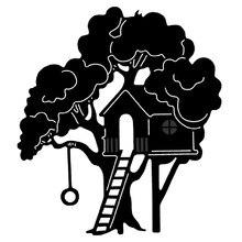 Místico floresta árvore casa corte de metal dados para diy scrapbooking álbum cartões de papel artesanato decorativo gravação morrer cortes 2020