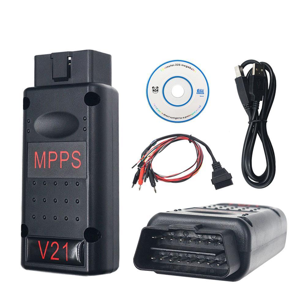 Instrumento de diagnóstico de fallas para automóviles, herramienta de diagnóstico Op-el MPPS V21 MAIN + TRICORE + MULTIBOOT con Cable Breakout Tricore