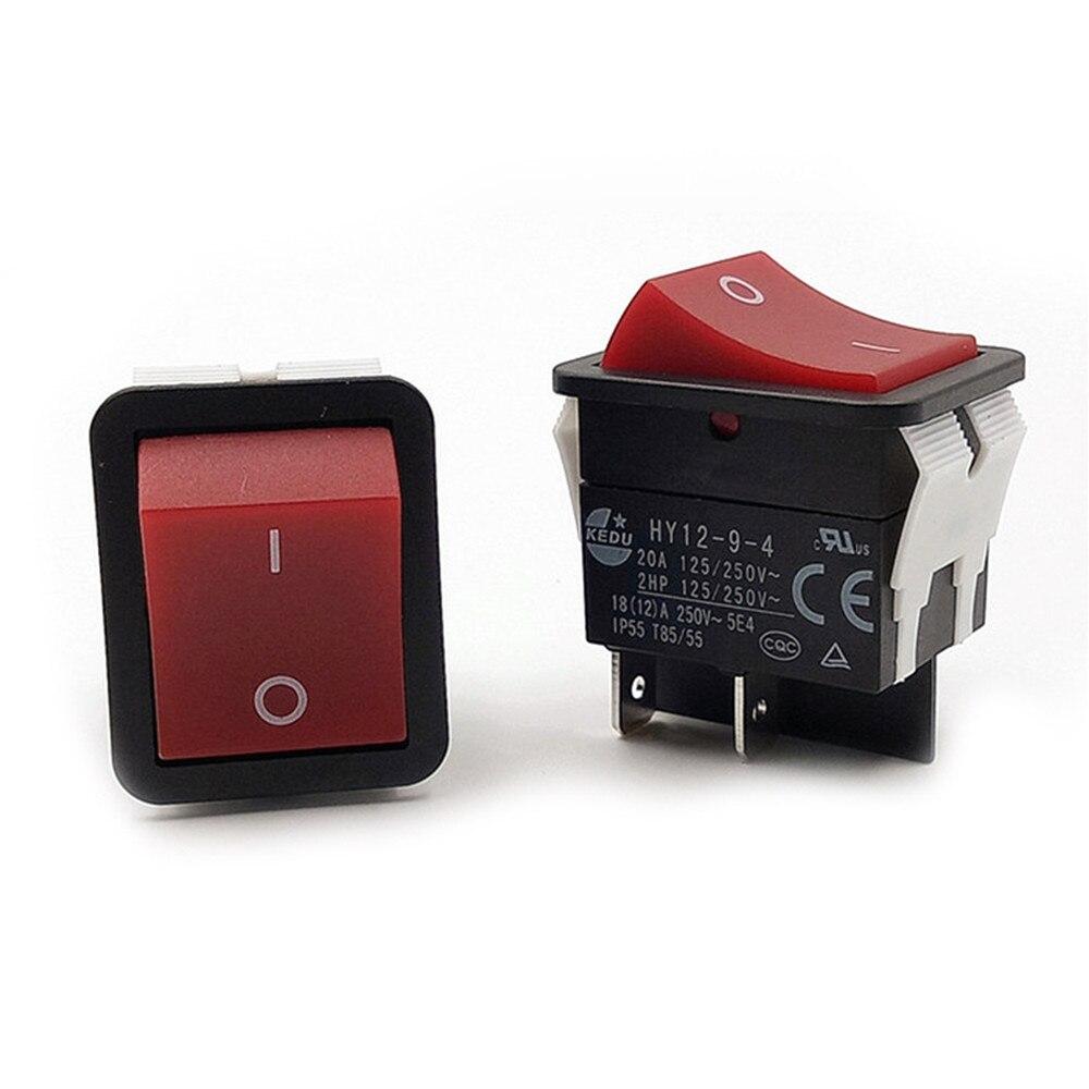 Reemplazar 1 Uds KEDU encendido apagado interruptor basculante botón 4 Pin IP55 T85 HY12-9-4 Accesorios