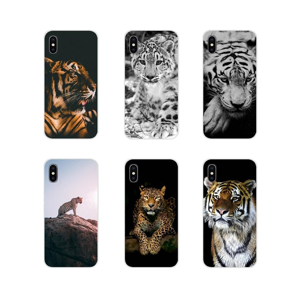 Para Samsung A10 A30 A40 A50 A60 A70 M30 Galaxy nota 2 3 4 5 8 9 10 PLUS tigre león leopardo negro Cheetah suave transparente cubre