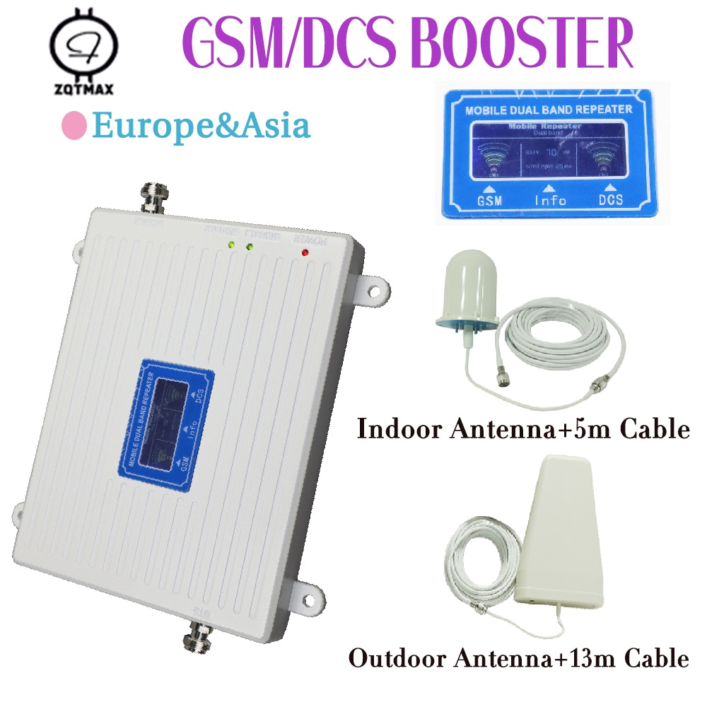 ZQTMAX 4g LTE repetidor gsm dcs Amplificador de señal 900 1800 Amplificador...