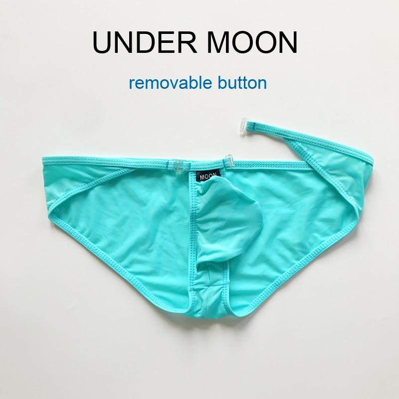 El nuevo tipo de calzoncillos de cintura baja para hombres, ropa interior convexa U para hombres, bolsa fina de seda de hielo, bragas translúcidas sexy