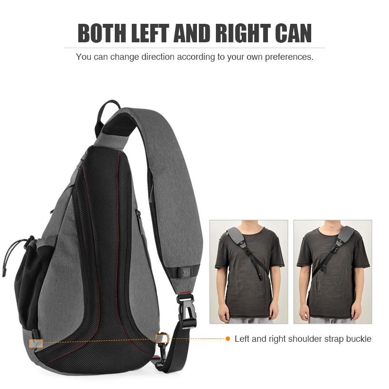 Nahrbtnik z enim ramenom z USB-jem, ženska torba za sling, - Nahrbtniki - Fotografija 3