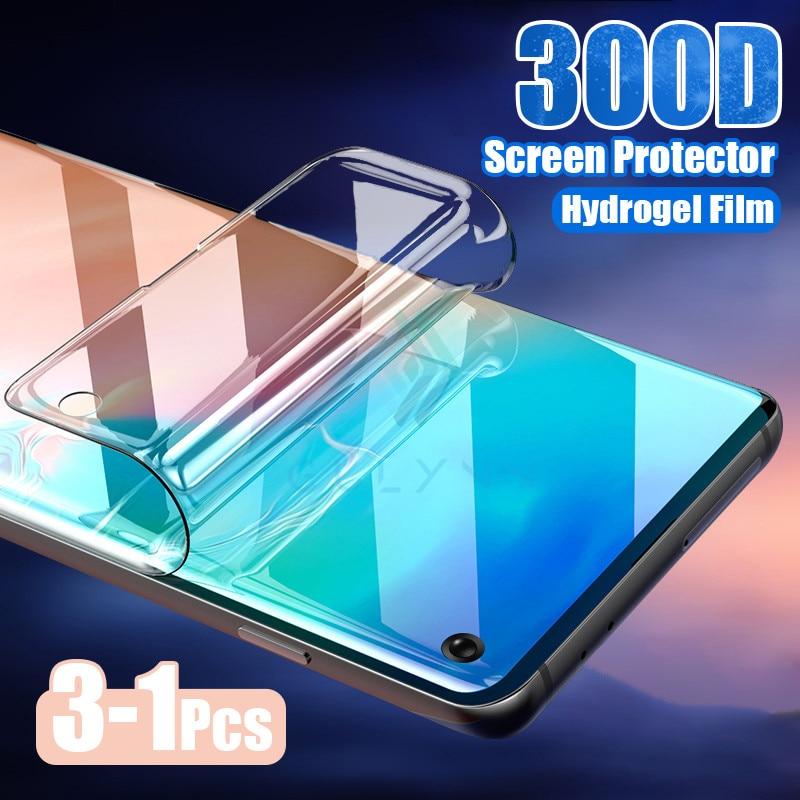 Film Hydrogel 3-1 pièces sur le protecteur décran pour Samsung Galaxy M31 A41 M21 A51 A71 A81 A01 protecteur décran pour A10 A20 A30 S
