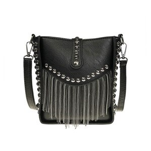 Women Tassel Shoulder Bag Punk Rivet Ladies Messenger Bag Small Bucket Bag Female Crossbody Bags For Women Bag