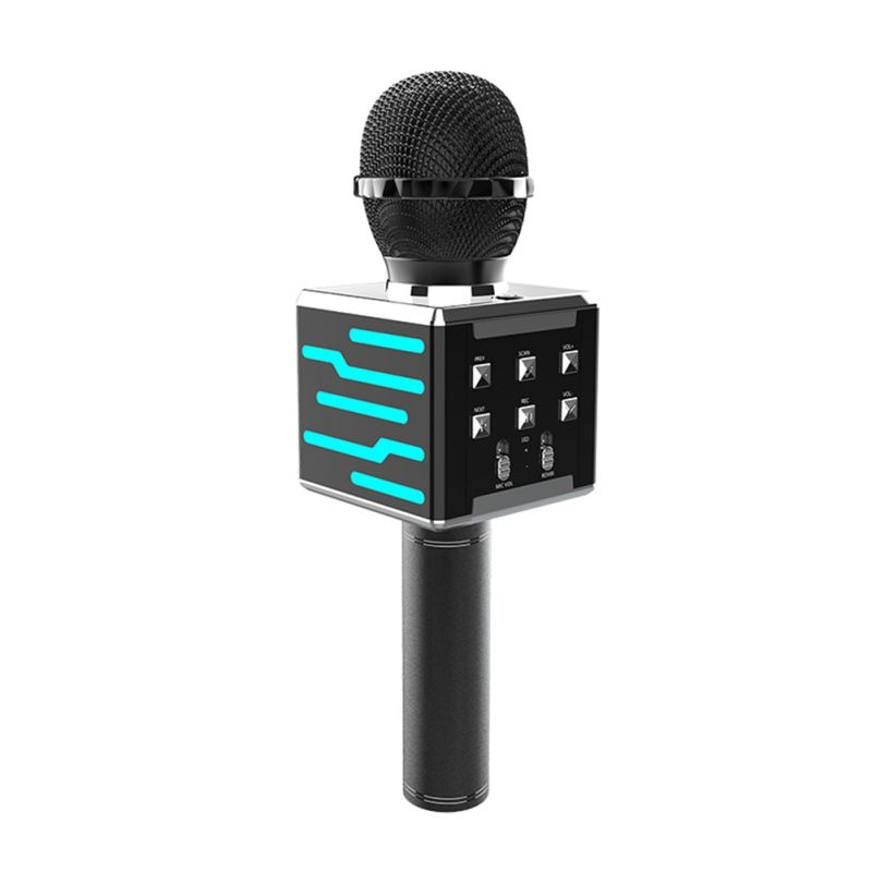 skm9000 100 m uhf wireless microphone professional karaoke system dual cordless mic 2 channel receiver ktv microfono inalambrico Professional Bluetooth Wireless Microphone Handheld Karaoke Mic USB Mini Home KTV For Music Player Singing Recorder Mic for Kids