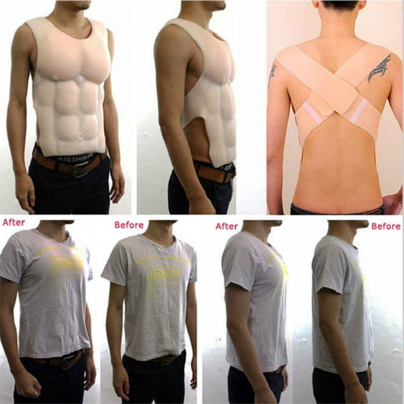 جديد قطعة كبيرة الصدر ثمانية رجل العضلات قوية سيليكون وهمية الصدر العضلات البكلوراليس العضلات تأثيري كروسدرسر الاصطناعي الشكل