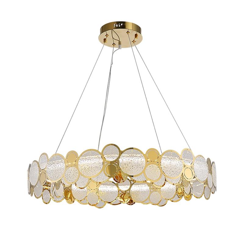 ما بعد الحداثة الفاخرة LED الثريا لغرفة المعيشة غرفة الطعام غرفة نوم تركيبات بسيطة مطعم متجر الملابس جديد الزجاج مصباح معلق