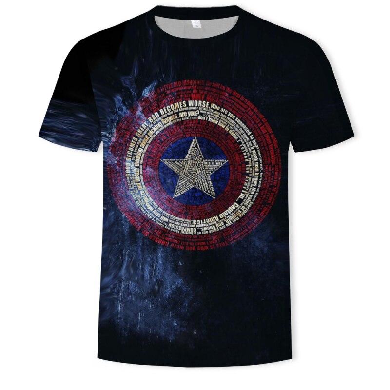 2020 design heißer t hemd Kapitän Amerika 3D drucken t-shirts Marvel Superhero t-shirt S-6XL Rabatt verkauf