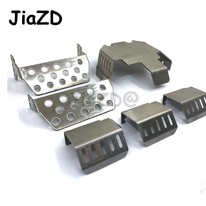 RC Car Trx6 G63 gran Benzs parachoques chasis armadura protección Placa de deslizamiento para 1/10 RC TRX6 TRX-6 G63 Defender opción piezas de mejora