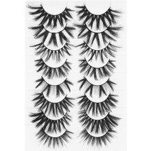 8Pairs 3D Mink False Eyelashes Natural Long Eye Lashes Wispies Fluffy Eyelashes Extension Eyelash Ma