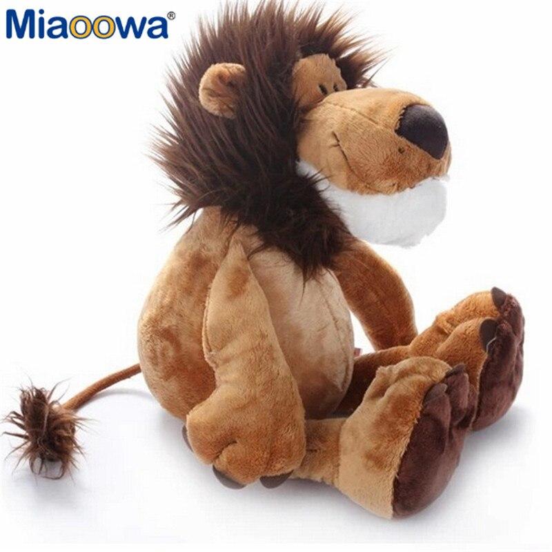 25 см Симпатичные Джунгли животных плюшевые игрушки льва, слона, жирафа обезьяна плюшевые игрушки и куклы из мультфильма для детей, детские, ...