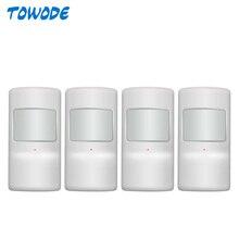 Towode-capteur de mouvement Pir sans fil   4 pièces, pour G90B Plus S5 WiFi GSM, système dalarme domestique, sécurité