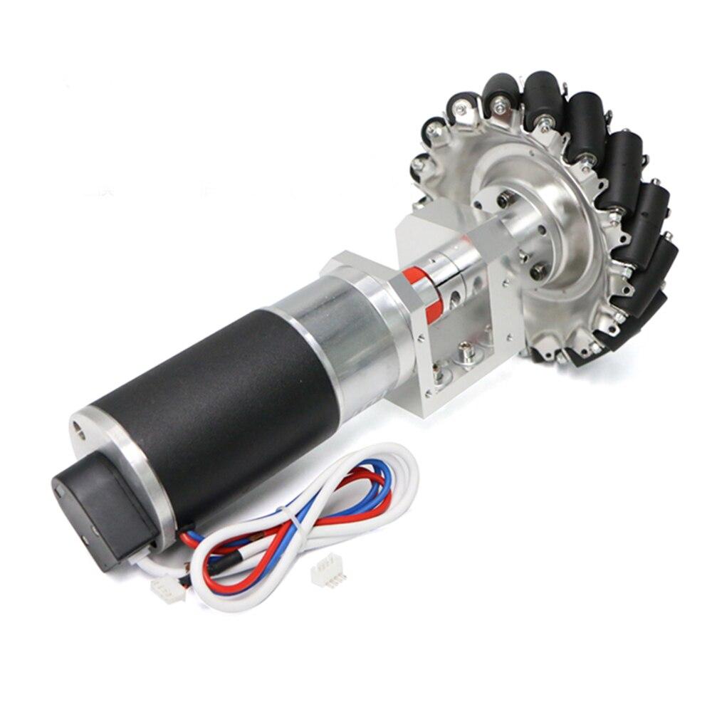 MD60 24V Chassis Wheel Group Module Wheat Wheel Omnidirectional Wheel Photoelectric Encoder Planetary Gear Motor Mecanum Robot