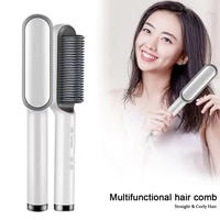 multifunctional professional hair straightener tourmaline ceramic hair curler brush hair comb straighteners curling hair iron
