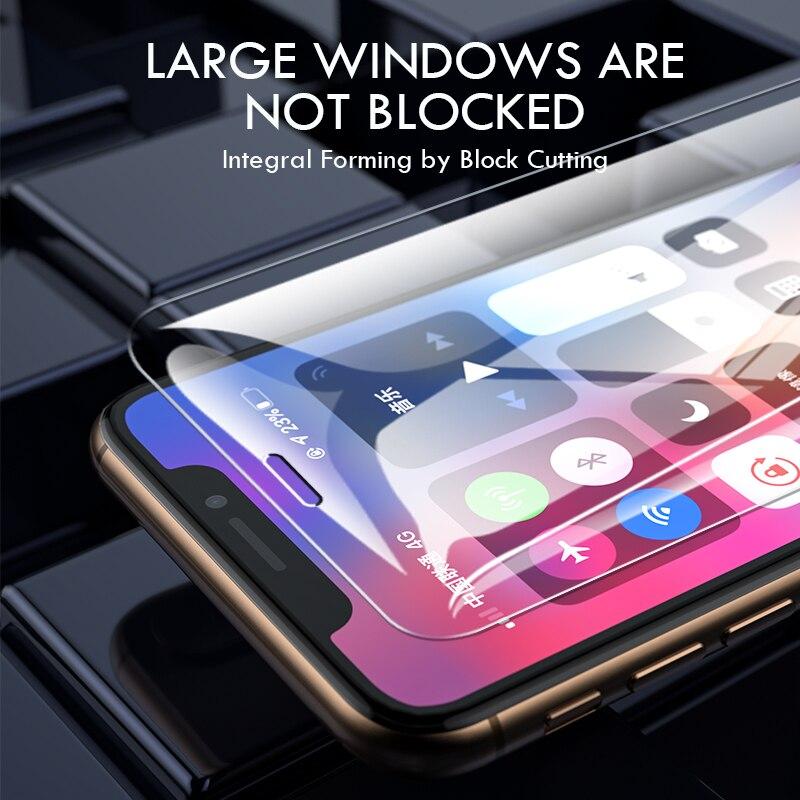 Закаленное стекло с полным покрытием для iPhone 7, 8, 6, 6s Plus, X, 3 шт.