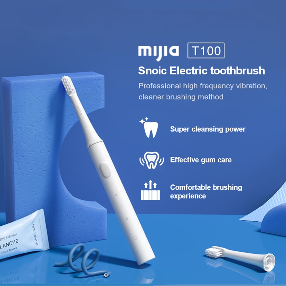 Mijia T100 Sonic Electric Toothbrush Adult Ultrasonic Automatic USB Rechargeable Waterproof Tooth Brush Xiaomi Original