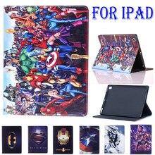 Fall Für Apple iPad Mini Fall iPad Air Air 2 Neue iPad 9,7 iPad 10,2 7th Abdeckung Stehen Funda Spiderman marvel Avengers Muster