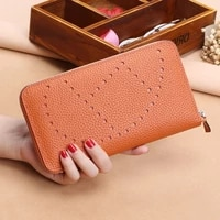 2020 popular litchi pattern womens wallets and purses 100genuine leather long ladies wallet money bags clutch coin card holder
