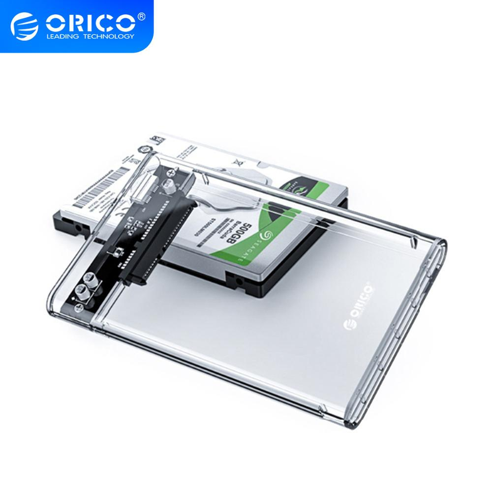 ORICO HDD Fall 2,5 Transparent SATA zu USB 3,0 Adapter Externe Festplatte Gehäuse für 7mm/9,5mm SSD Disk HDD UASP SATA III