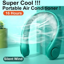 Airmsen Mini Bladeless Fan Neck Fan 4000 mAh USB Rechargeable  Mute Sports 3-speed adjustable Portab