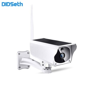 DIDSeth 1080P HD Outdoor WiFi IP Camera IP67 Waterproof Solar Panel Rechargeable Battery Security Video Surveillance Camera