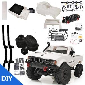 WPL C24-1KIT 1/16 2.4G 4WD Crawler Truck RC Car KIT Full Proportional Control Truck Klimmen Diy Kinderen Voertuig Model