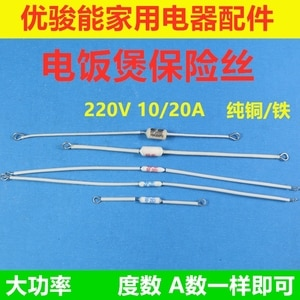 High power electric cooker fuse temperature fuse overheat fuse 10 / 20A 185 / 200 / 230 degree copper iron