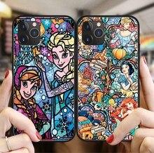 Mignon dessin animé Disney princesse Elfe Point Winnie lourson étui en polyuréthane thermoplastique Pour iPhone X XS MAX XR 11Pro 6 6S 7 8 Plus Coque