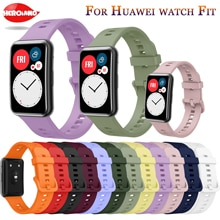 Soft Silicone Band For Huawei Watch Fit Strap with Tool Woman Man sport Bracelet correa Strap For Hu