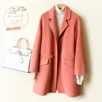 2020 100 coat women long double faced wool jacket korean fashion overcoat ladies coats abrigos mujer elegante 722 kj4045