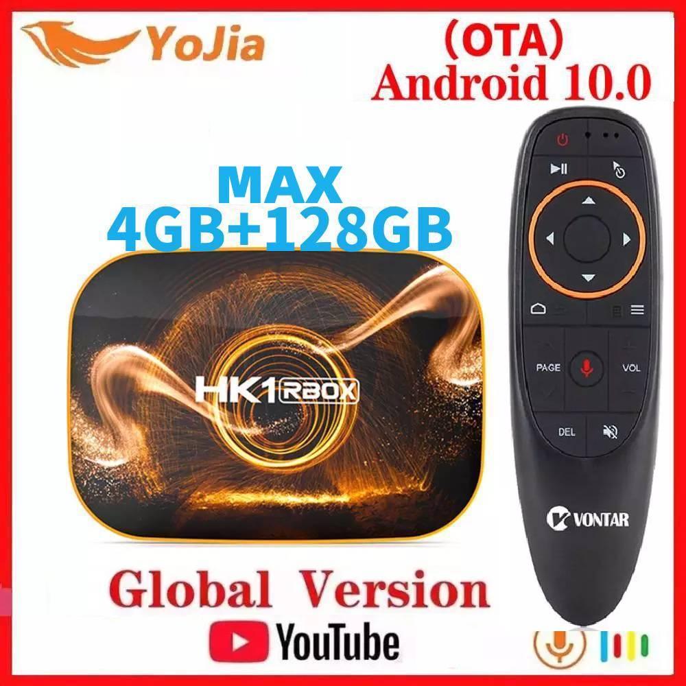 Smart TV Box Android 10.0 HK1 RBOX R1 MAX 4GB RAM 128GB ROM Android 10 TVBOX 4K Media Player USB3.0 Set Top Box 2G16G Youtube