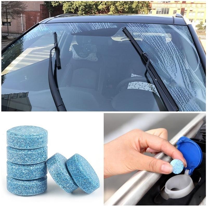 100 шт., автомобильный очиститель стекла для лобового стекла, компактный шипучий лист, очистка окон, автозапчасти