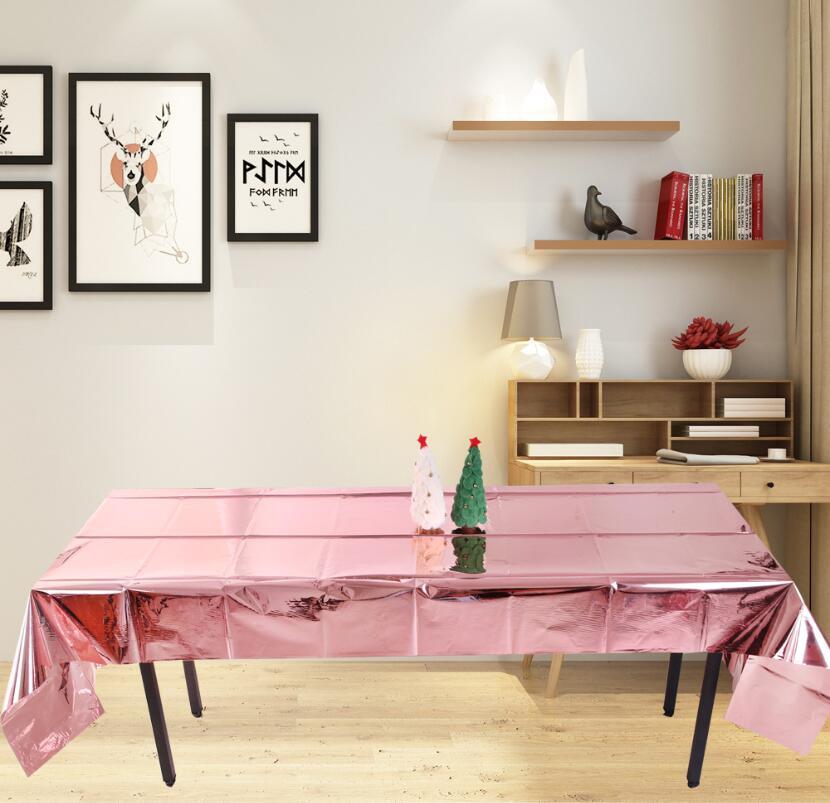 Shiny Gold Plastic Tablecloth