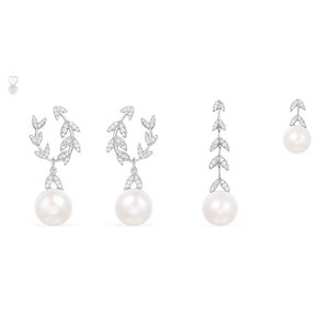 New Tamsui Bay Leaf Tassel Earrings Zircon Asymmetric Square Chain Jewelry