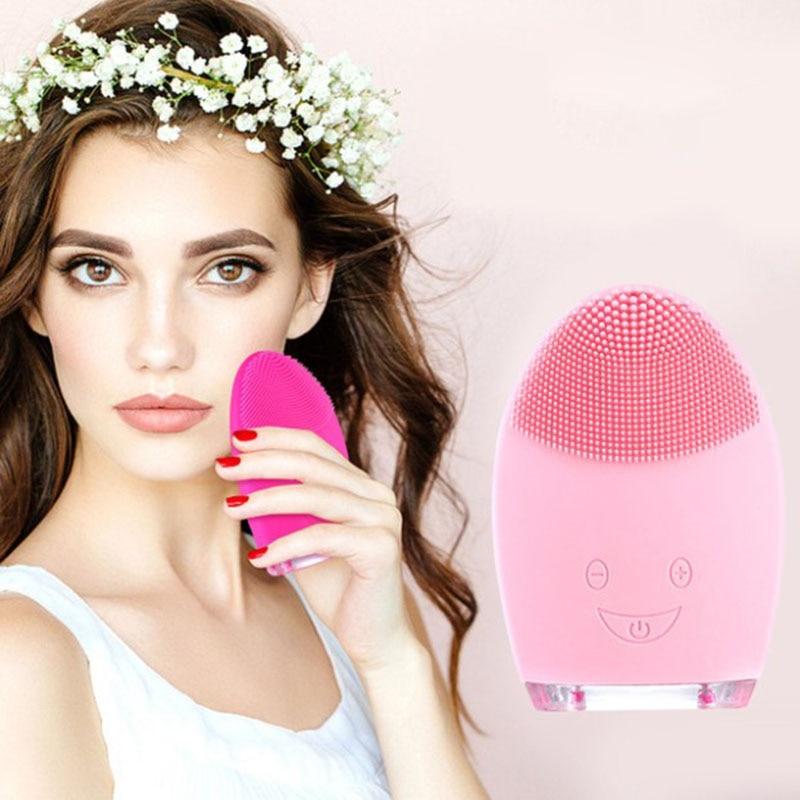 De Silicona de Sonic cara Cepillo de limpieza Cepillo Facial eléctrico Silicona...