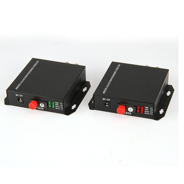 1 Pair 720P 960P 2 Channel Coaxial AHD HD CVI Fiber Optic Video Converter enlarge