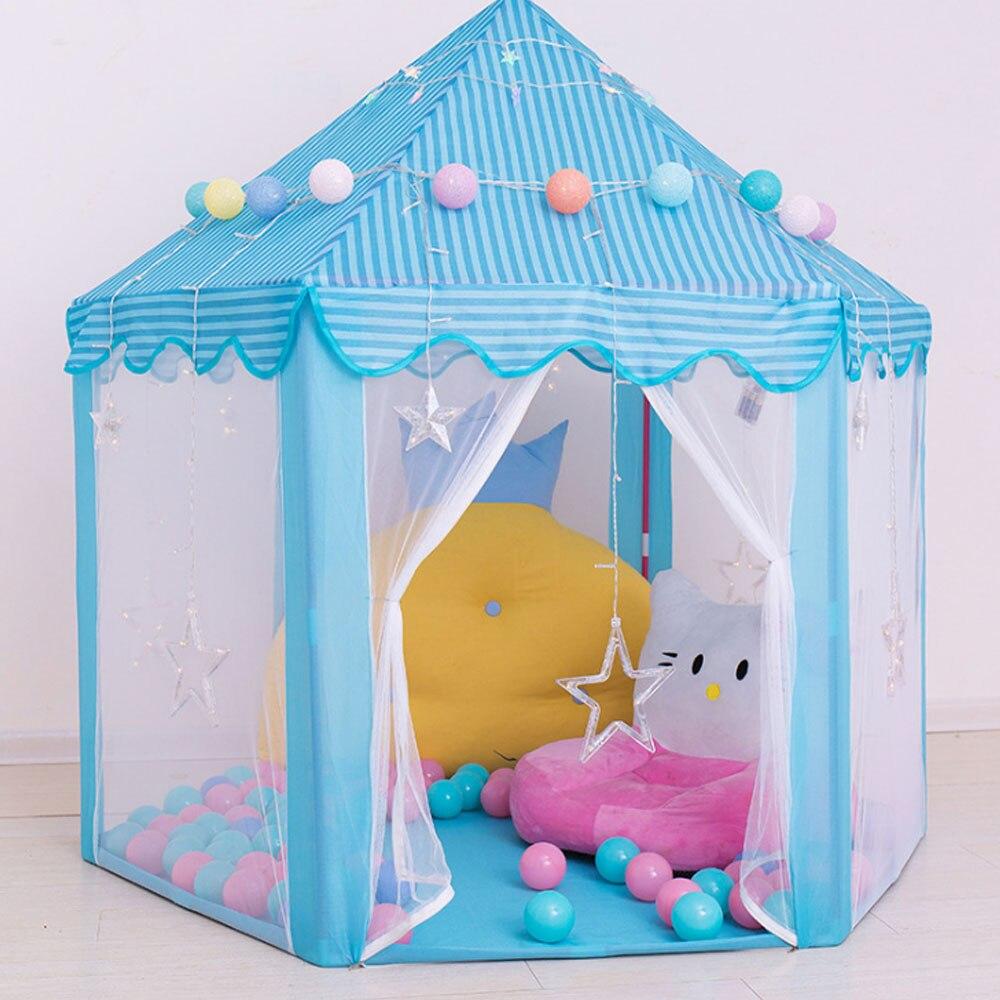 Casa Infantil, tienda de campaña de princesa para niños, tipi, juguetes para niñas, casa de campaña, juego de Cabana para bebé, tienda de campaña para niños