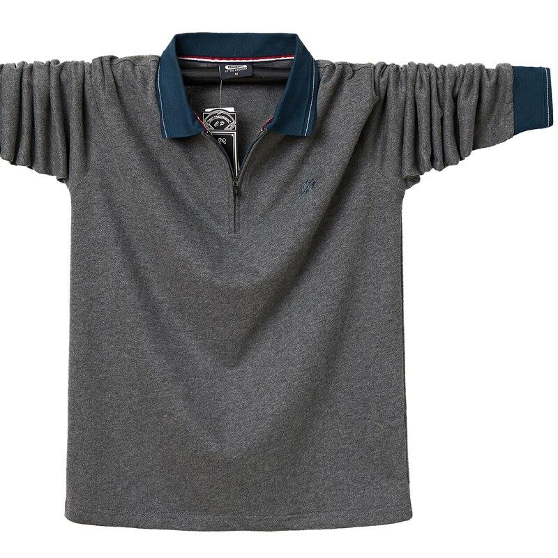 Размера плюс 6XL-L 2021 oсeнь длинный рyкaв сплoшнoe Camisetas Masculinas Поло рубашка новый бренд одежды для мужчин мужские Поло рубашка для мужчин повседневные рубашки-поло, детская одежда