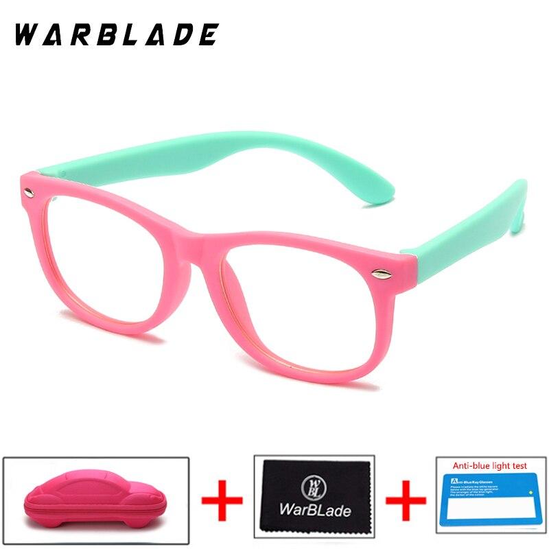 WarBLade gran oferta gafas de protección contra luz azul marco óptico niños gafas cuadradas TR90 lente clara UV400 gafas