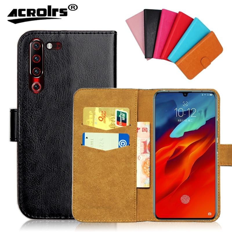 "Para Lenovo Z6 Pro Case 6,39 ""6 colores Flip Wallet Cases Lenovo Z 6 Pro suave cuero exclusivo bolso de funda de teléfono negro"