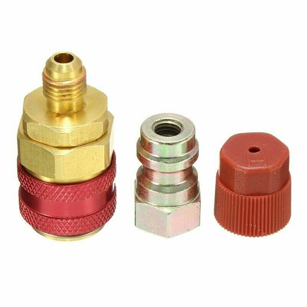 Long Red Extension Quick Connector Coupler Adapter For Bmw Ford R134A Air Conditioner Quick Connector With Cover QC-12LH