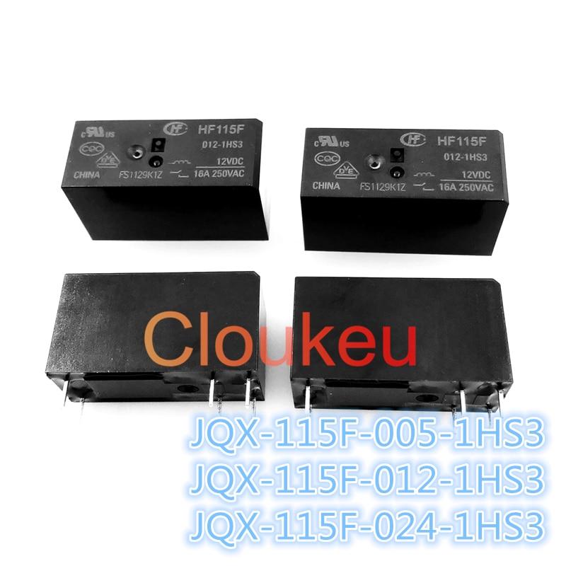 100 Uds relé de DIP6 HF-JQX-115F-005-1HS3 JQX-115F-012-1HS3 JQX-115F-024-1HS3 5V 12V 24V 16A