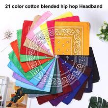 Unisex Cotton Blend Hip Hop Bandana Headwear Scarf Hair Band Scarves Neck Wrist Wrap Band Head Squar