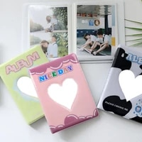 Mini Photo Album Plug-in Album Loving Album Korea Style Business Card Album PP Pages Hollow Out Albums